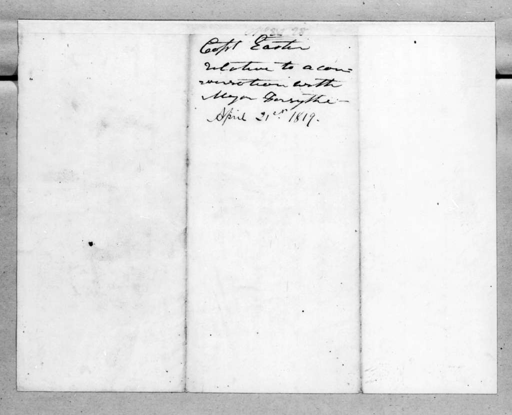 Richard Ivy Easter to Andrew Jackson, April 21, 1819