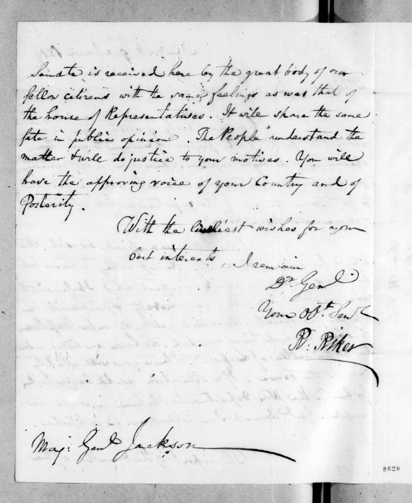 Richard Riker to Andrew Jackson, March 9, 1819