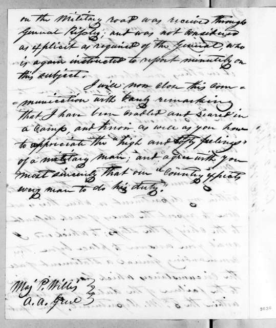 Robert Butler to Perrin Willis, July 29, 1819