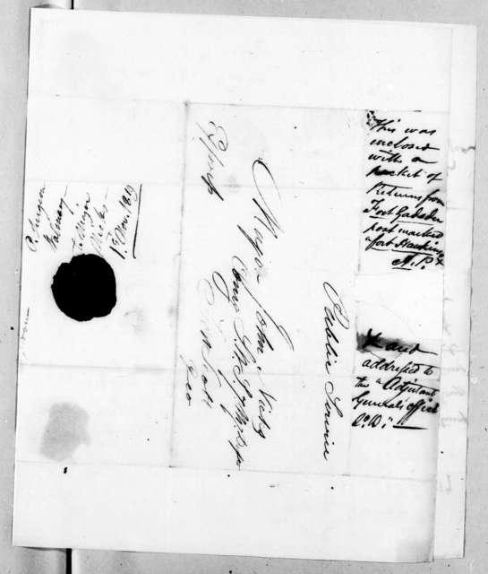 Robert McGregor Walmsley to John Nicks, November 1, 1819