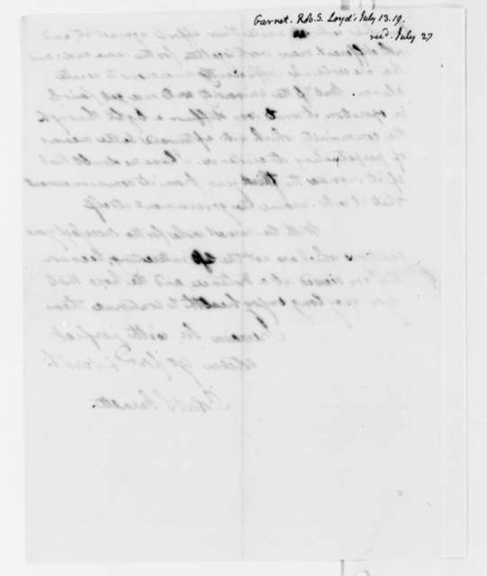Robert S. Garnett to Thomas Jefferson, July 13, 1819