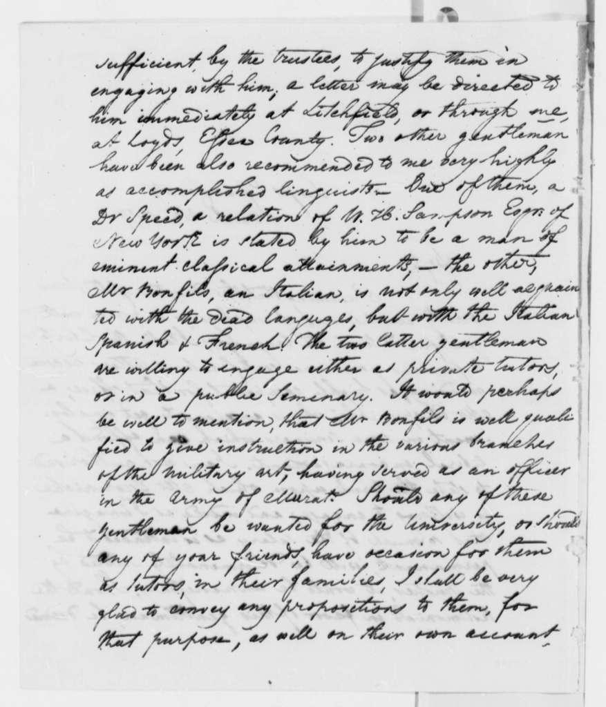 Robert S. Garnett to Thomas Jefferson, March 20, 1819