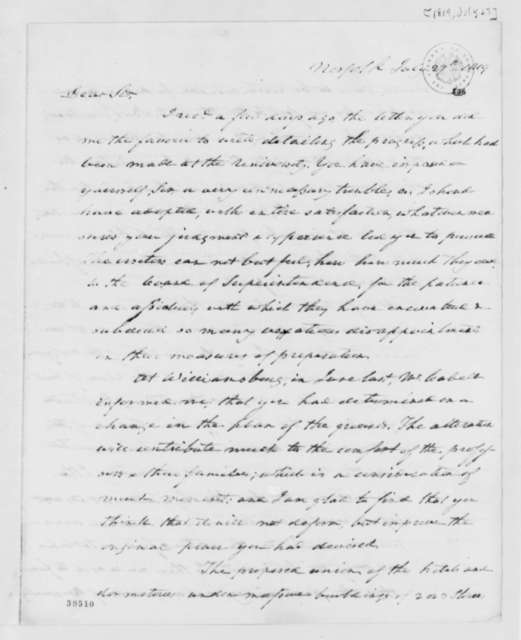 Robert Taylor to Thomas Jefferson, July 27, 1819