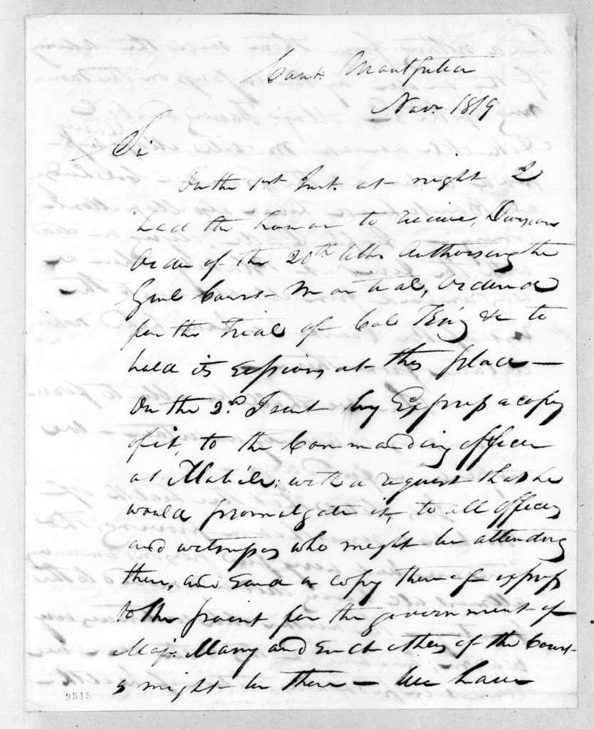 Stockley Donelson Hays to Robert Butler