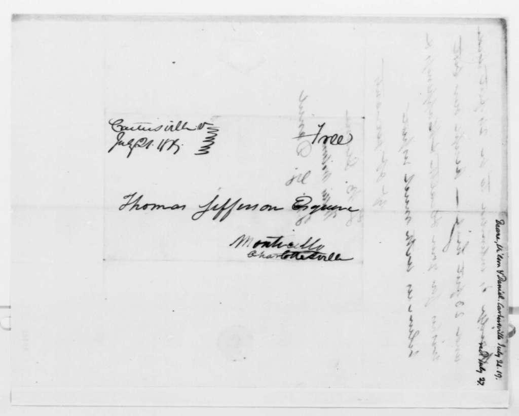 T. B. Deane, Willis Wilson, and John G. Daniel to Thomas Jefferson, July 21, 1819