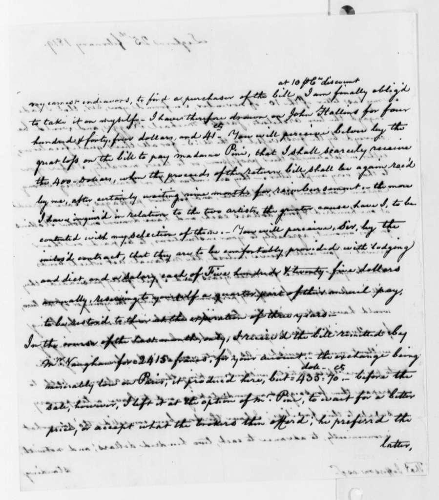 Thomas Appleton to Thomas Jefferson, February 25, 1819