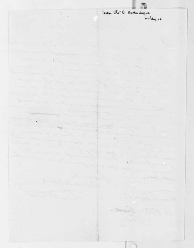 Thomas B. Parker to Thomas Jefferson, August 14, 1819