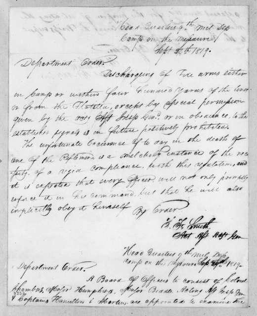 [Thomas] F. Smith, September 24, 1819