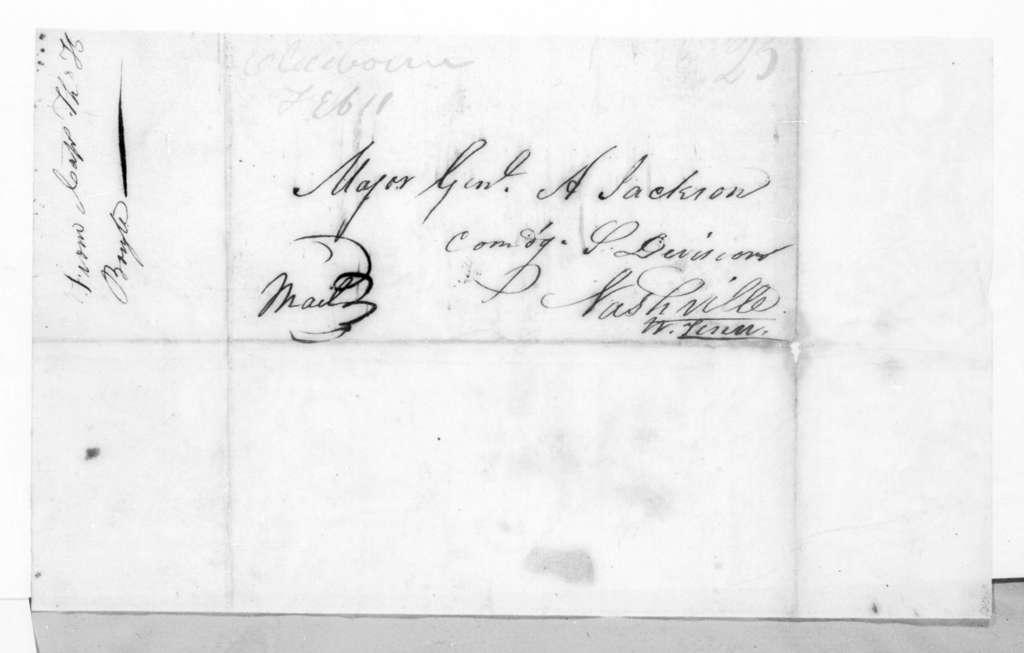 Thomas H. Boyles to Andrew Jackson, February 11, 1819