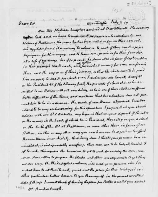 Thomas Jefferson to Arthur S. Brockenbrough, July 2, 1819