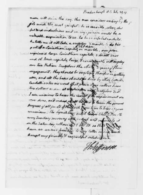 Thomas Jefferson to Arthur S. Brockenbrough, July 29, 1819