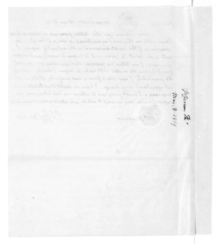 Thomas Jefferson to James Madison, March 8, 1819.