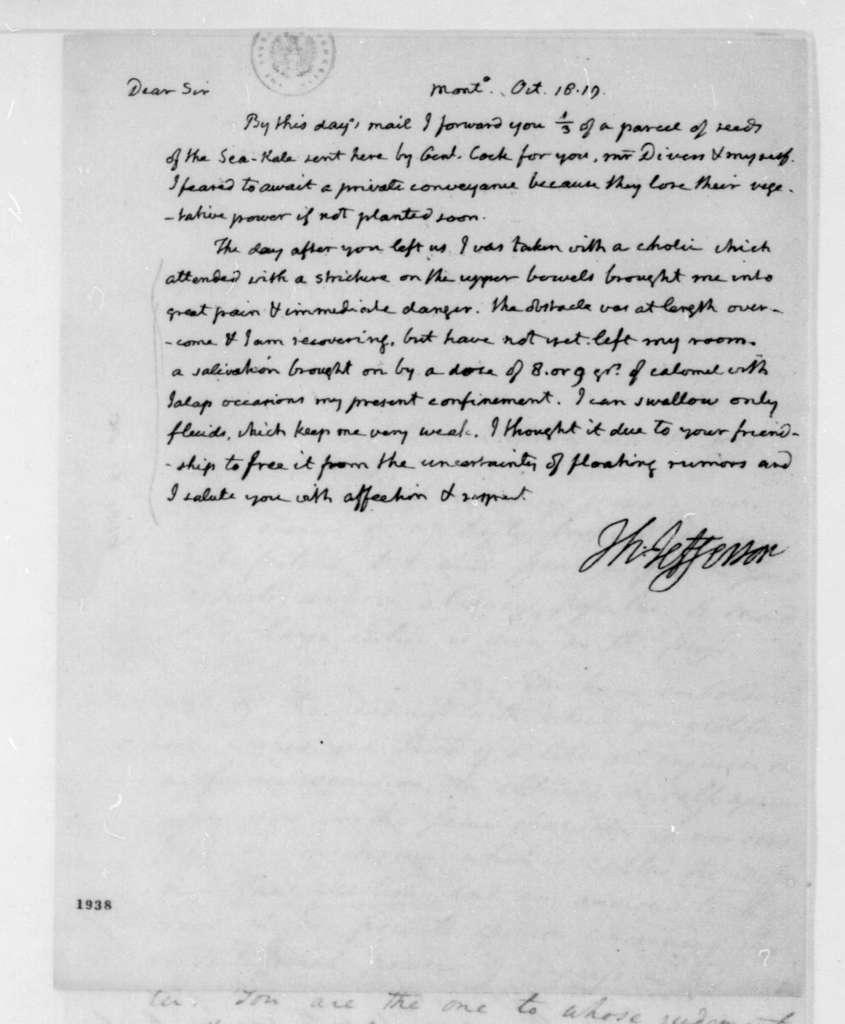Thomas Jefferson to James Madison, October 18, 1819.