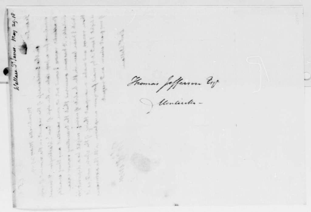 Thomas Jefferson to James W. Wallace, May 29, 1819