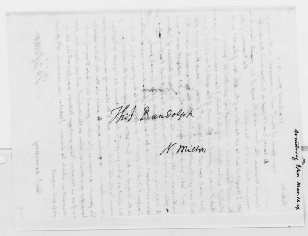 Thomas Jefferson to John Armstrong, March 14, 1819