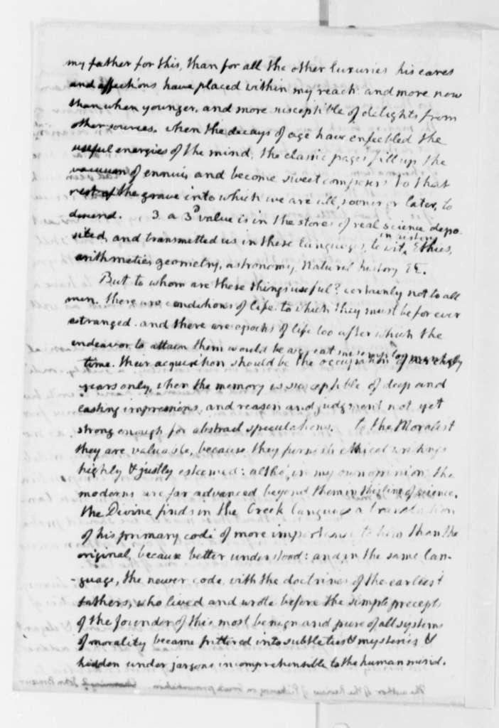 Thomas Jefferson to John Brazer, August 24, 1819