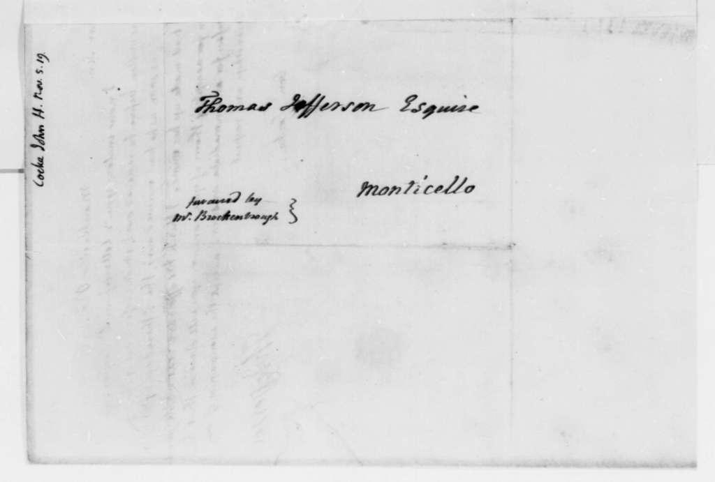 Thomas Jefferson to John Hartwell Cocke, November 5, 1819