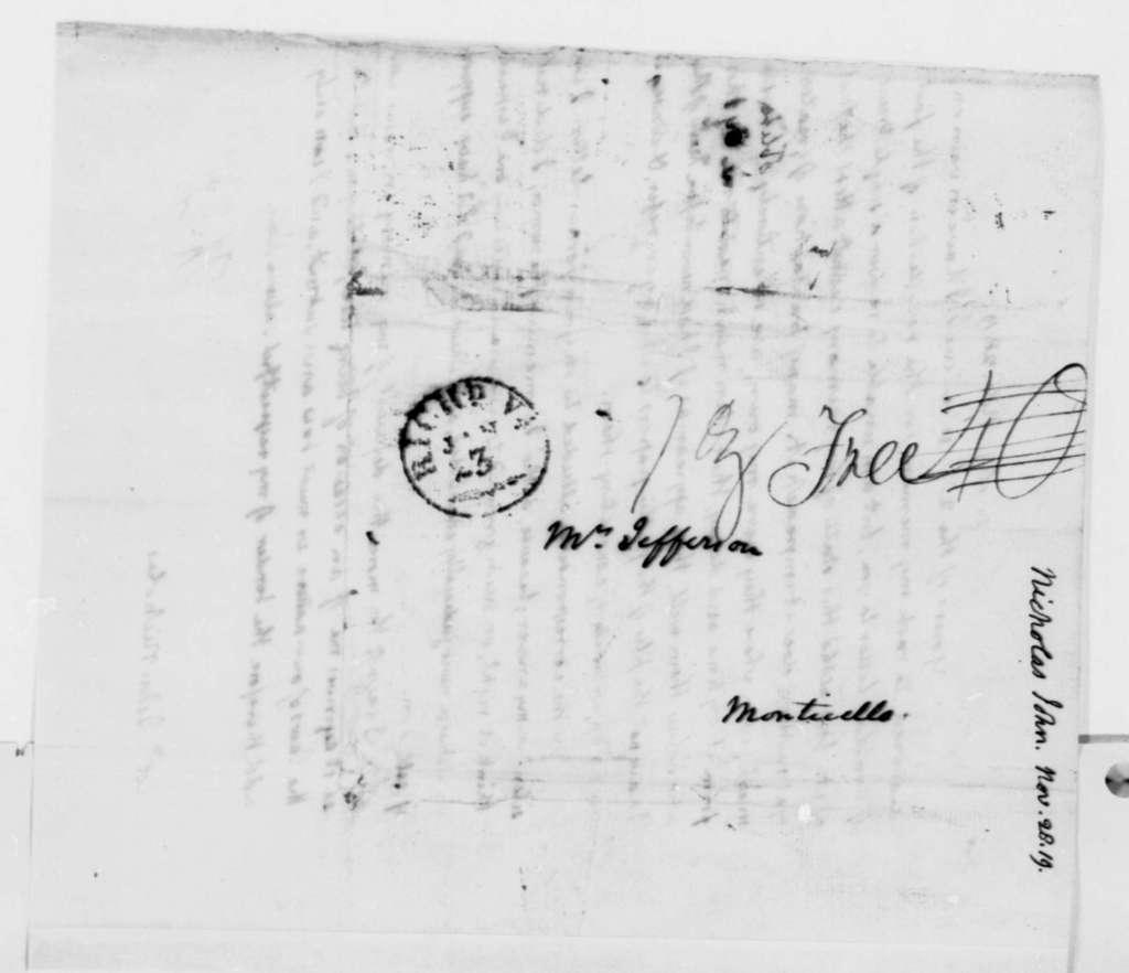 Thomas Jefferson to John Nicholas, November 28, 1819
