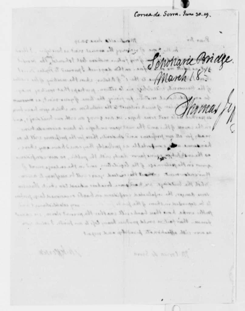 Thomas Jefferson to Jose Correa da Serra, June 30, 1819