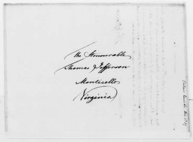 Thomas Jefferson to Lewis D. Belair, December 18, 1819
