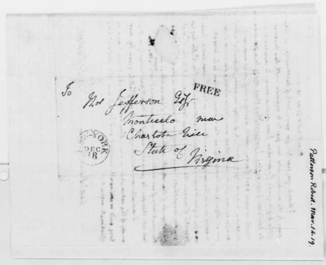 Thomas Jefferson to Robert Patterson, March 14, 1819