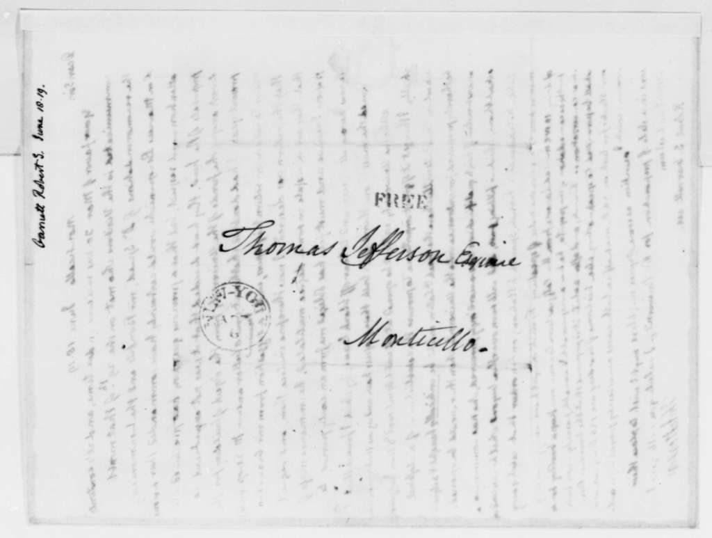 Thomas Jefferson to Robert S. Garnett, June 18, 1819