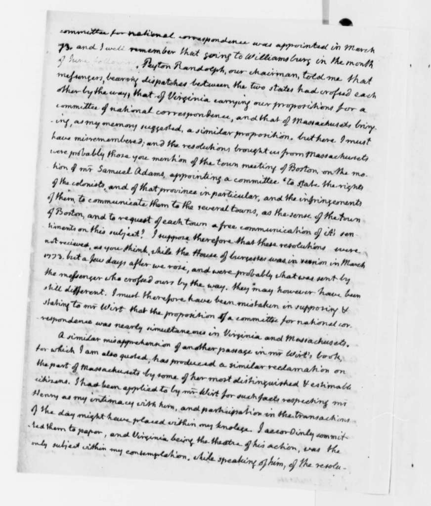 Thomas Jefferson to Samuel A. Wells, May 12, 1819, with Thomas Jefferson Note
