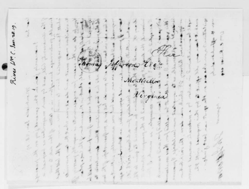 Thomas Jefferson to William Cabell Rives, January 28, 1819