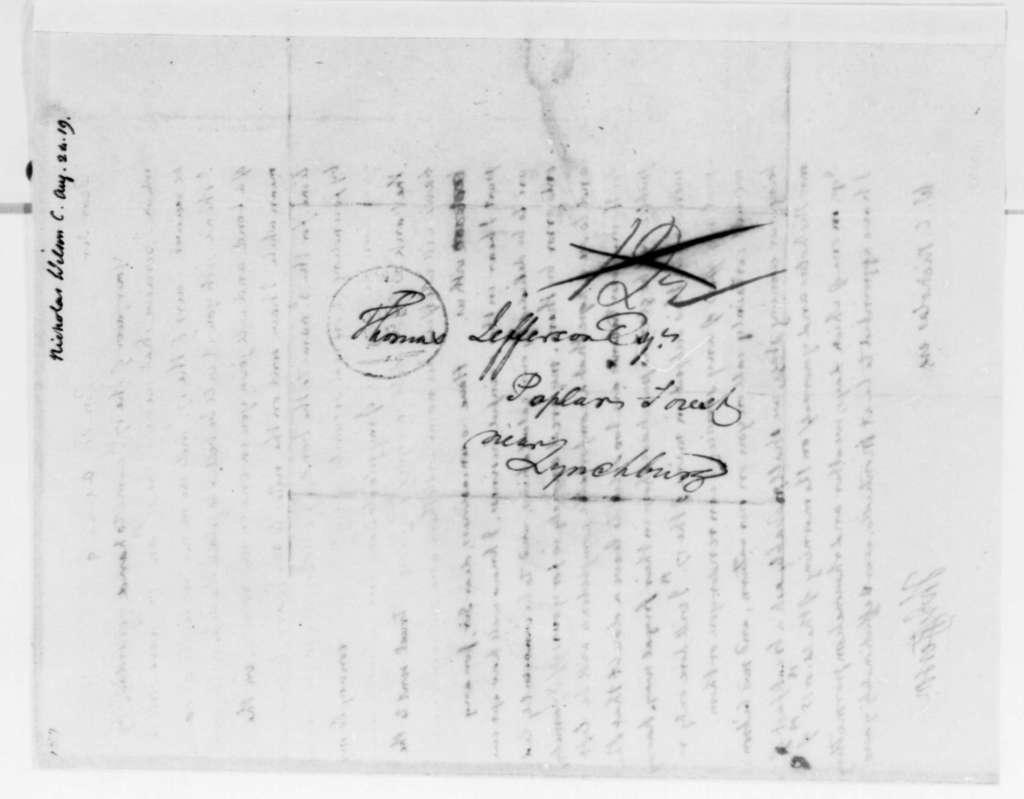 Thomas Jefferson to Wilson Cary Nicholas, August 24, 1819