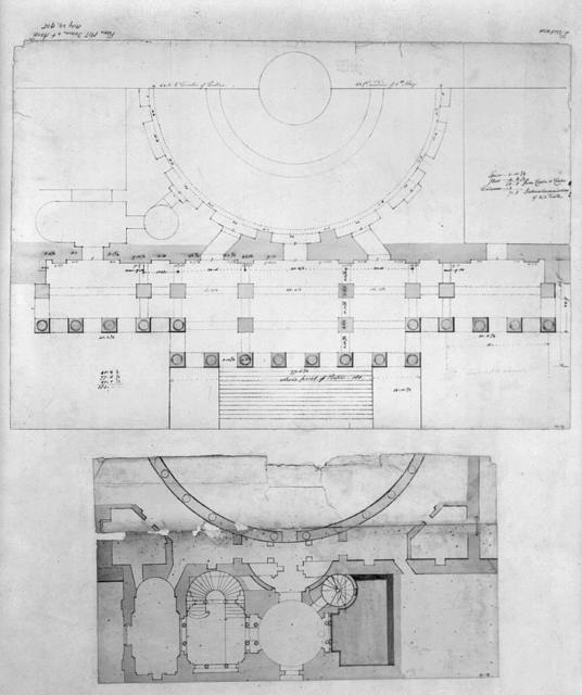 [United States Capitol, Washington, D.C. South Wing vestibules and stairways, plan]