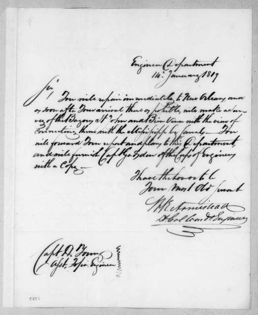Walker K. Armistead to Hugh Young, January 14, 1819