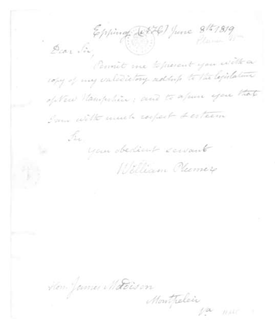 William Plumer to James Madison, June 8, 1819.