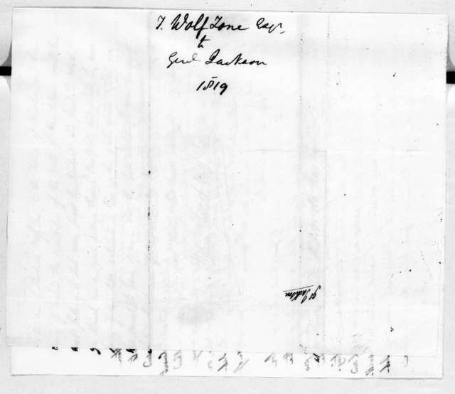 William Theobald Wolfe Tone to Andrew Jackson, June 16, 1819