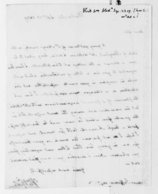 William Wirt to Thomas Jefferson, September 23, 1819