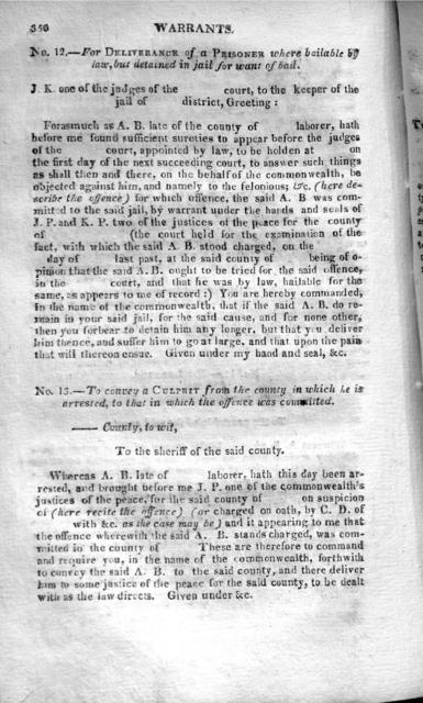 A general instructer; or, The office, duty, and authority of justices of the peace, sheriffs, coroners, constables, jailors, and jurymen, with precedents, suited to every case that can that can possibly arise, in the discharge of the duties in either of those offices. The whole alphabetically digested. To which is added a guide, to Superior, and County court clerks; an epitome of Blackstone's Commentaries; law maxims; remedies by action, and law fictions