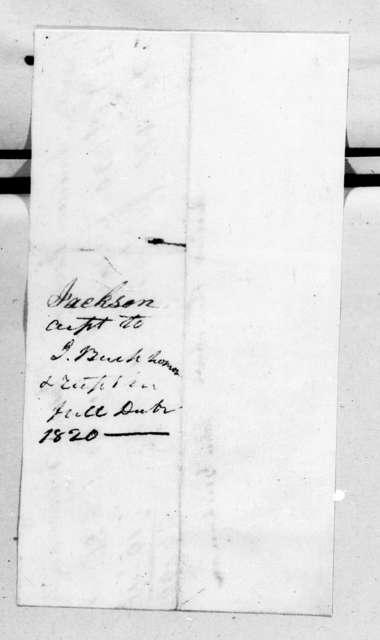 Account with John Buchanan for planks. September 27, 1820