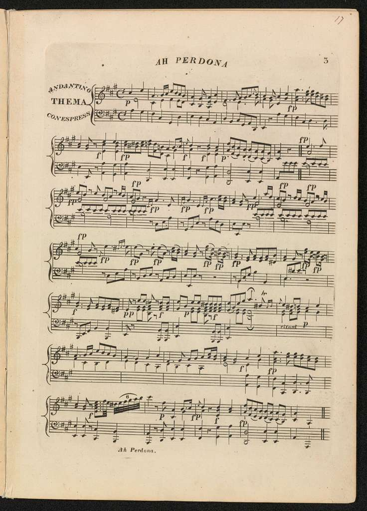 Ah Perdona a favorite air by Mozart with variations for the piano forte