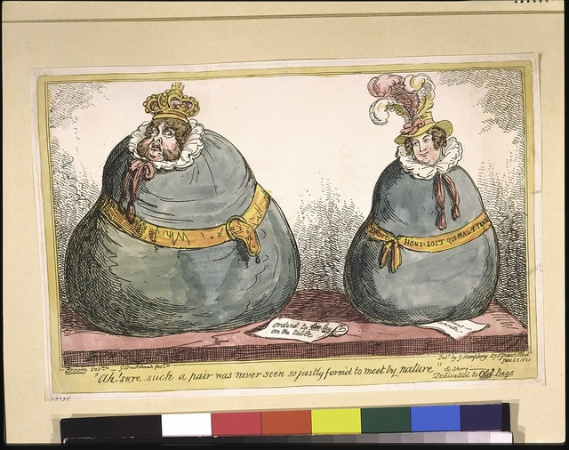 Ah! Sure such a pair was never seen so justly form'd to meet by nature---Old Sherry--- / Broom [Brougham] invt. ; G. Cruikshank, fect.