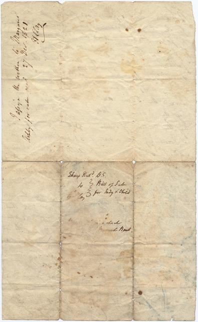 Bill of sale for Judy and her child Juliann