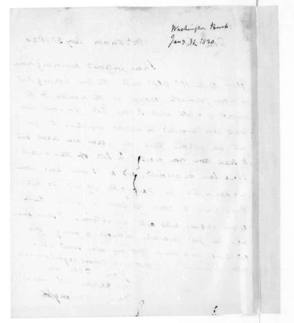 Bushrod Washington to James Madison, January 31, 1820.