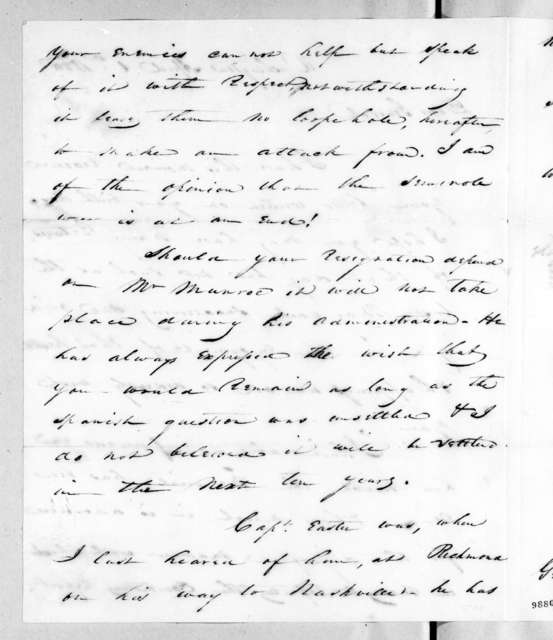 George Gibson to Andrew Jackson, April 1, 1820