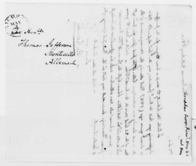 George Greenhow to Thomas Jefferson, May 3, 1820