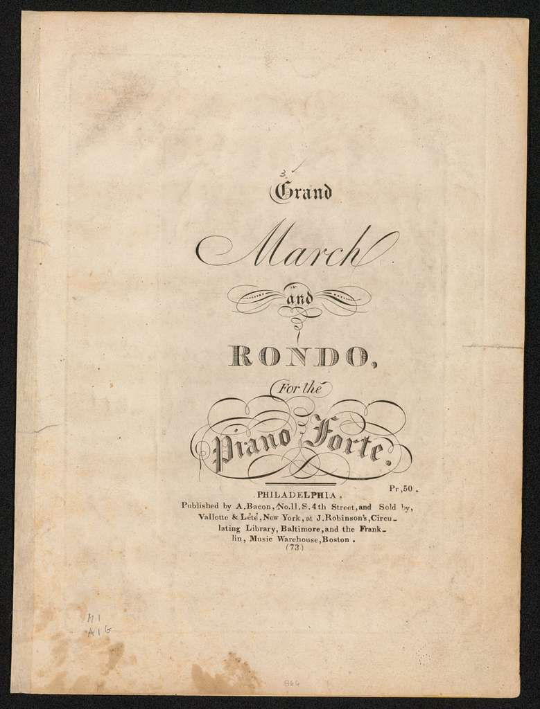 Grand march and rondo for the piano forte