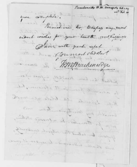 Henry Marie Brackenridge to Thomas Jefferson, February 5, 1820