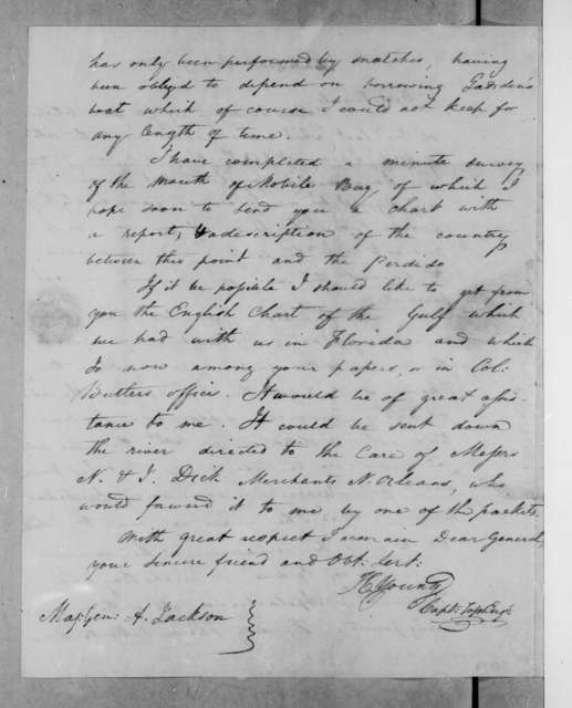 Hugh Young to Andrew Jackson, July 19, 1820