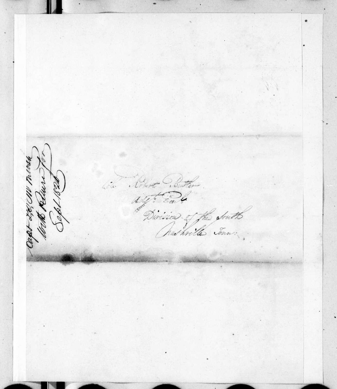 J. S. McIntosh to Robert Butler, October 4, 1820