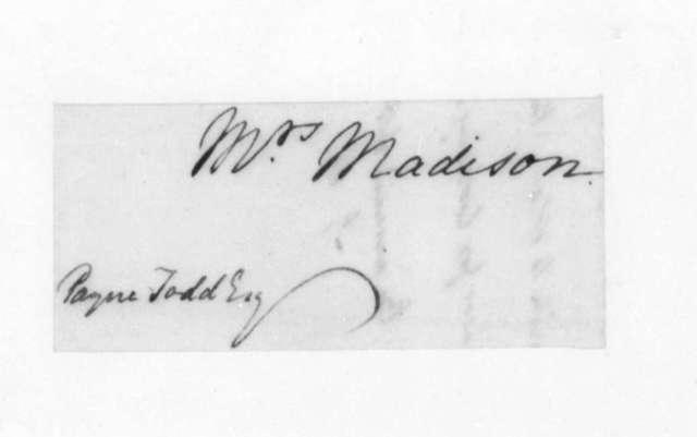 James Madison to Bushrod Washington, October 14, 1820.
