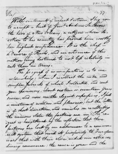 James Ronaldson to Thomas Jefferson, February 1, 1820