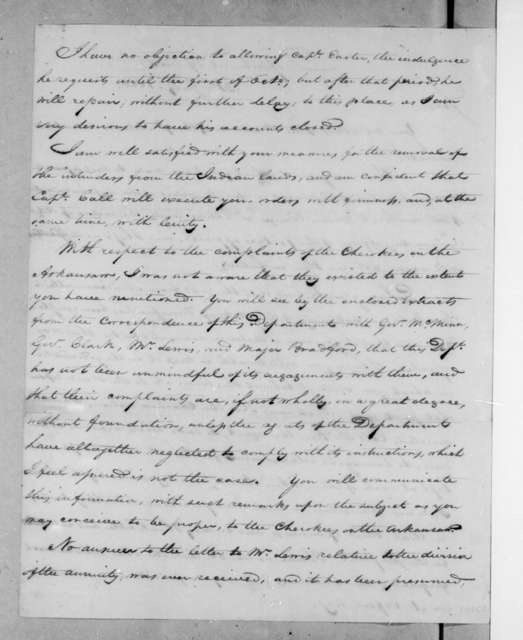 John Caldwell Calhoun to Andrew Jackson, July 31, 1820