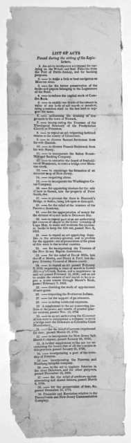 List of acts passed during the sitting of the Legislative [39 acts] [182-?].